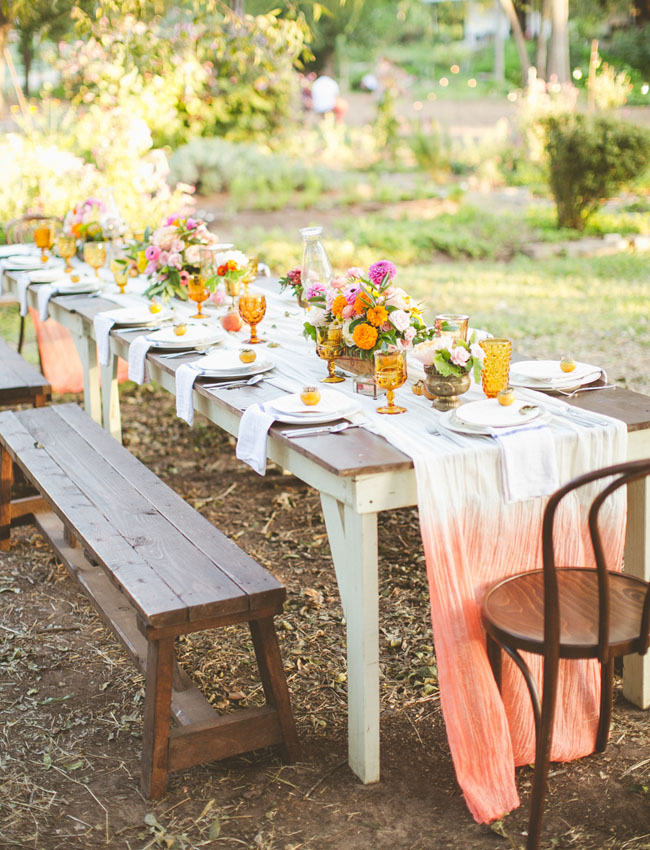 ombre tablecloths