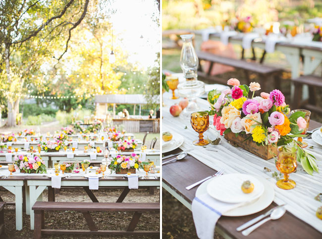 rustic wedding benches