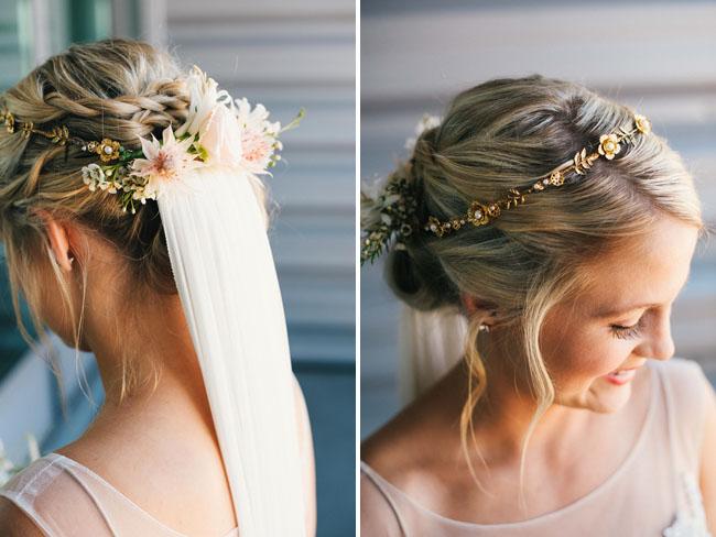 flower halo veil