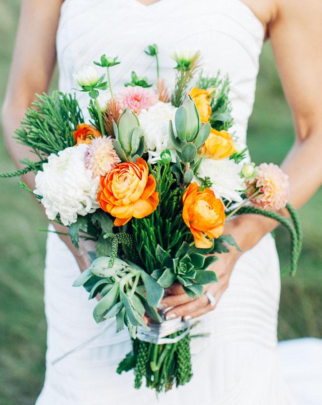 modern orange bouquet