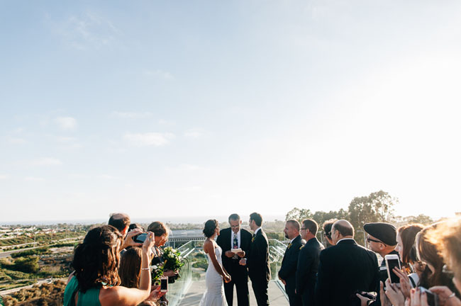 Newport Beach bridge wedding
