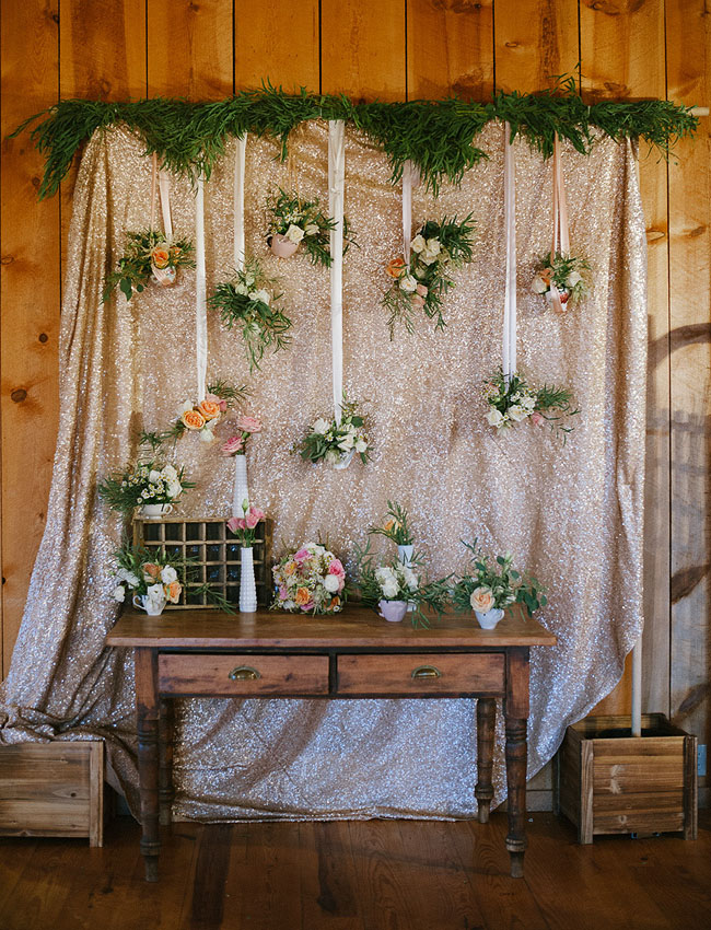 hanging floral table