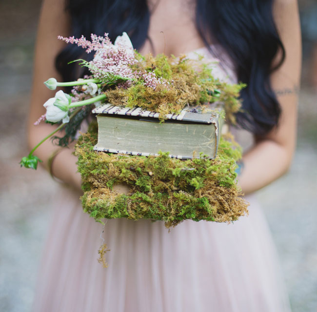 moss covered books
