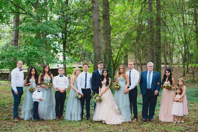 Fairytale wedding party