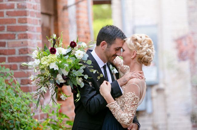 Florida back alley wedding