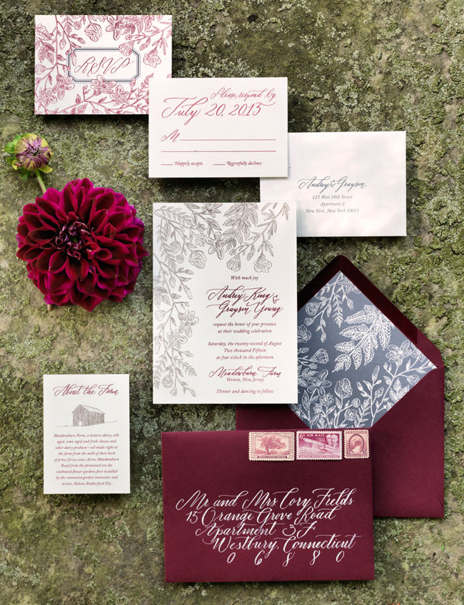 deep red invitation