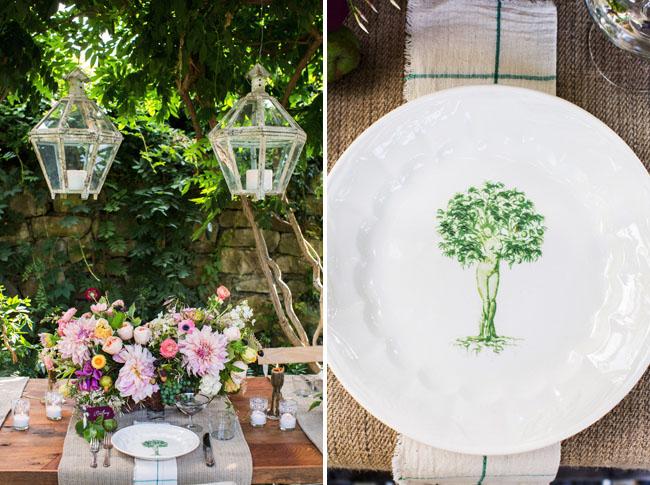 vintage tree design plate