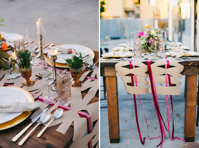 ribbon table runner