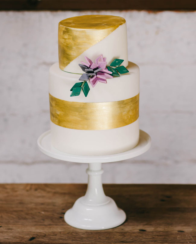 gold lined cake