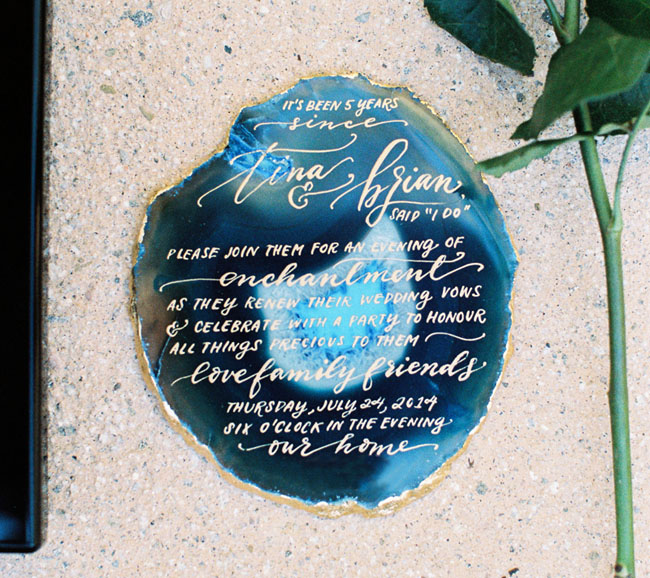 geode cut stone invitation