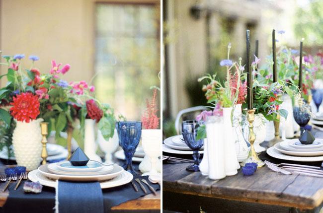 milk glass vases