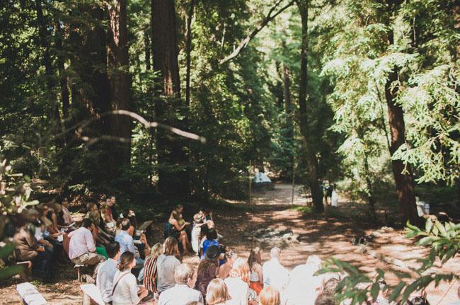 big sur woodland ceremony