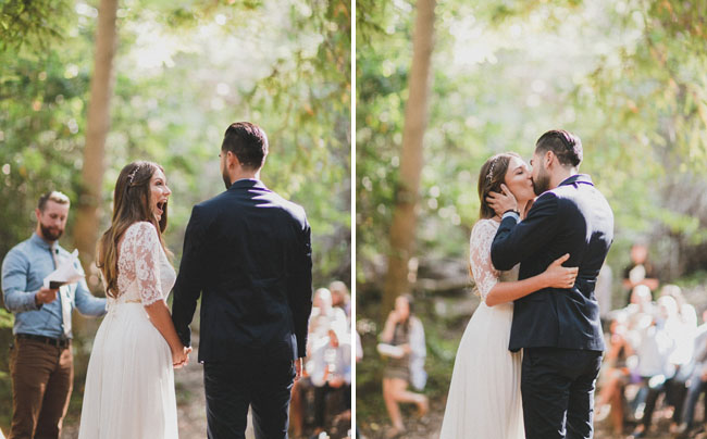 big sur woodland ceremony