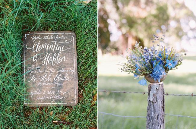 wooden inspired invitation