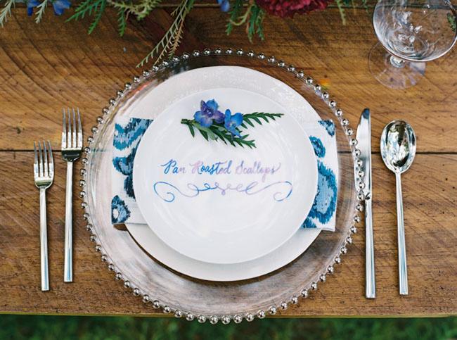 indigo blue plate
