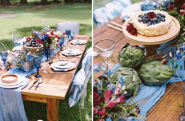 veggie table spread