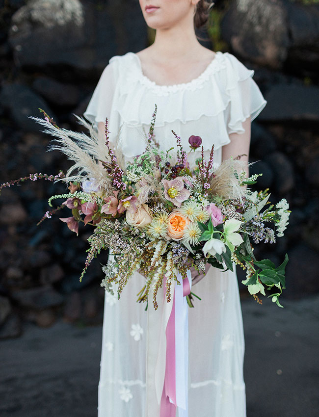 whimsical boho bouquet