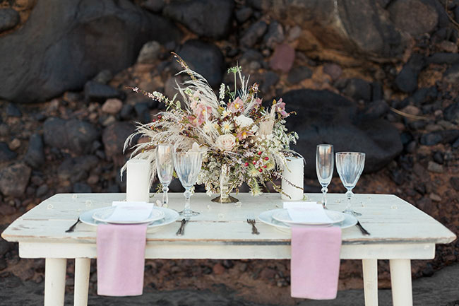 whimsical boho centerpiece