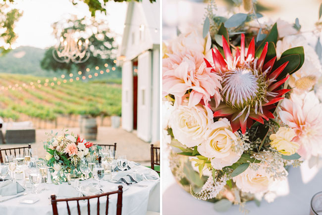 soft centerpiece florals