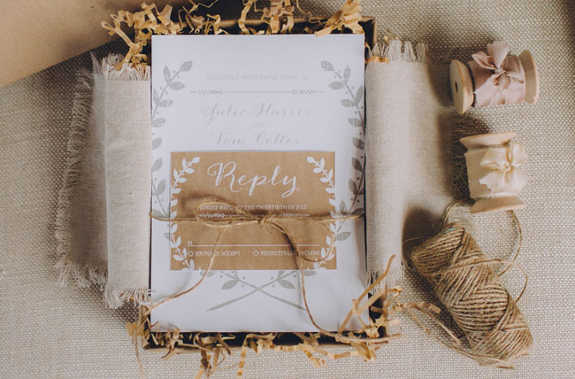 rustic invitation package