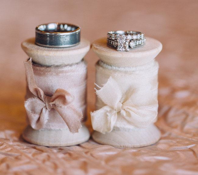 silk ribbon spools with rings