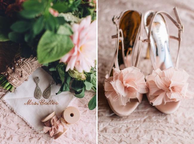 pink chiffon shoes