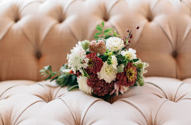 rustic red bouquet