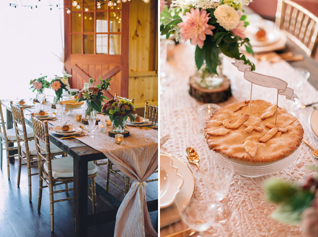 pie tablescape