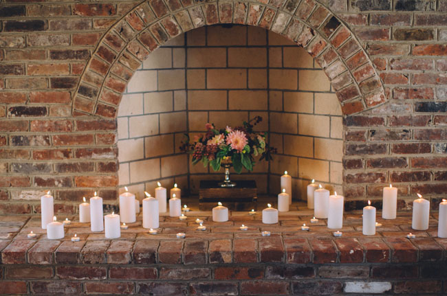 romantic candle fire place
