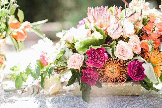 bright rustic boho florals