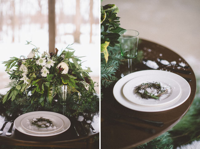 mini wreath plate setting