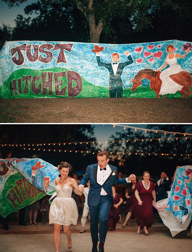 fun wedding exit