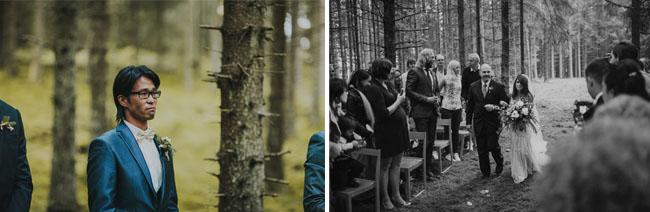 Sweden forest wedding