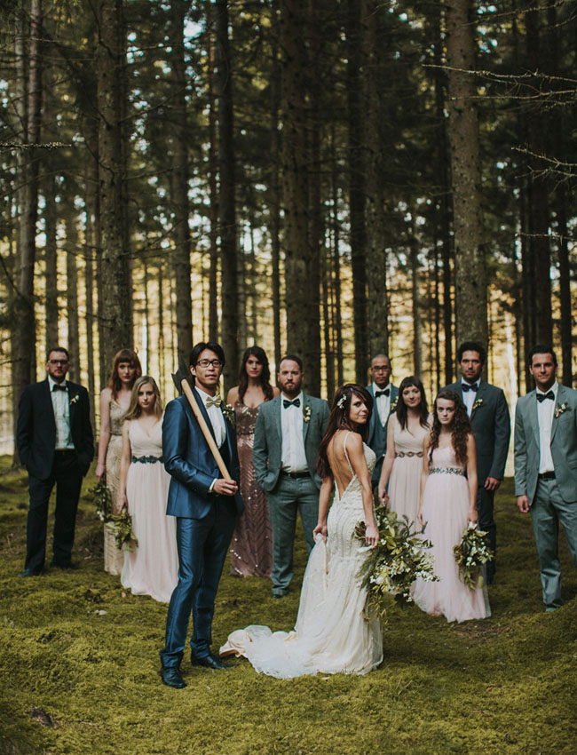 Swedish wedding party