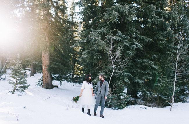 winter anniversary session