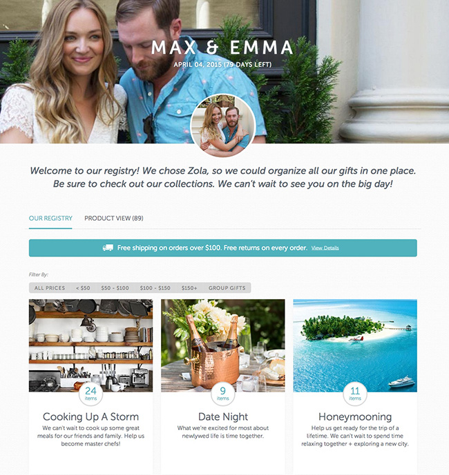 Max and Emma Sample Registry