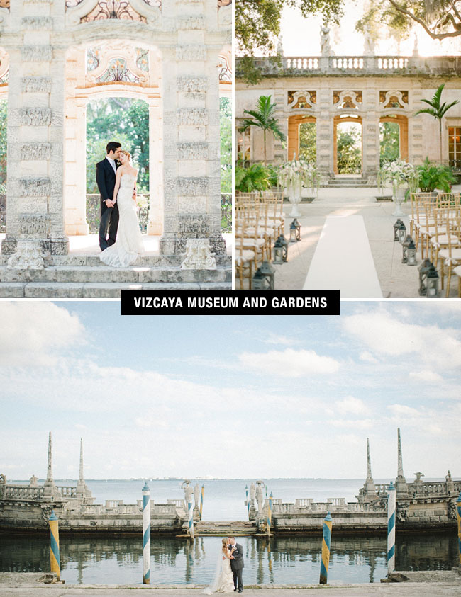 Vizcaya Museum and Gardens wedding venue in Miami is the place to get married if you're looking for a bit of Europe in South Florida