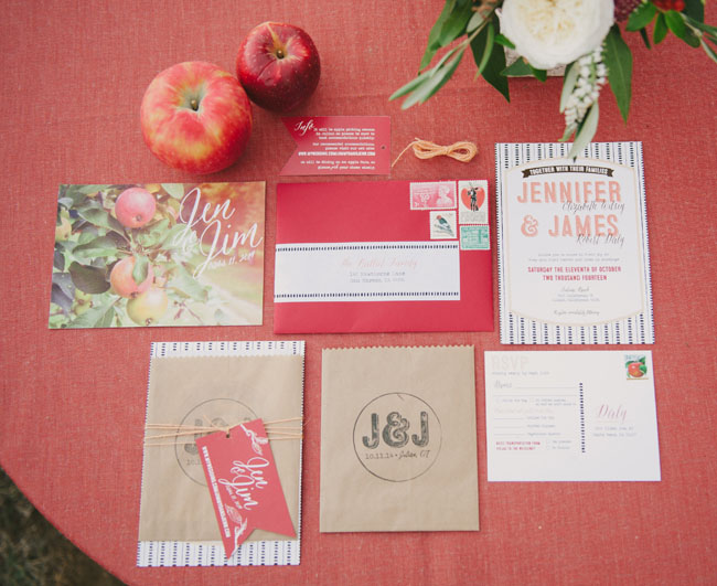 apple orchard inspired invitation