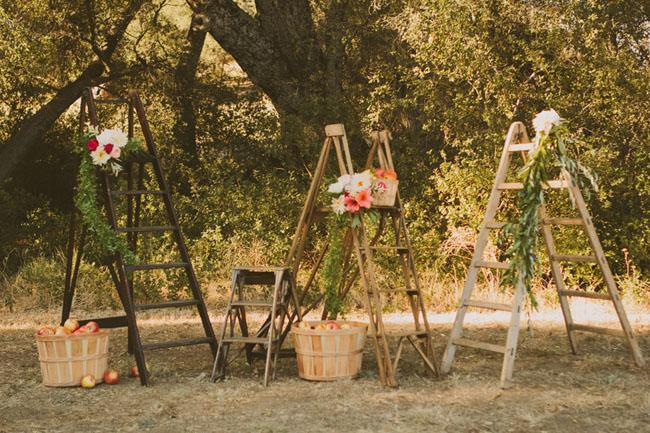 ladder ceremony backdrop