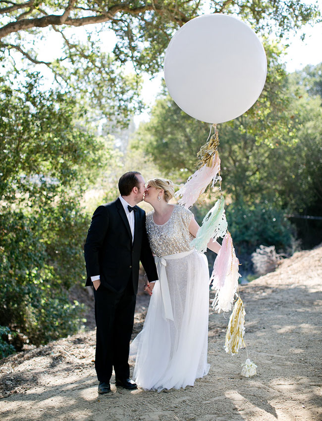 giant balloon with tassels