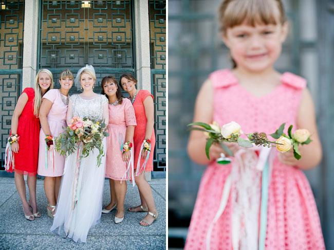 shades of pink bridesmaids