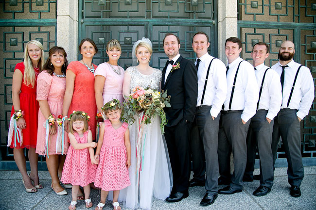 pink wedding party