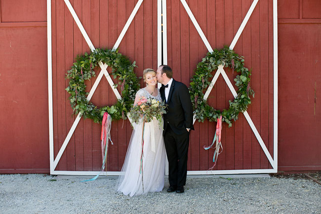 wreath barn doors