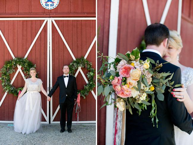 wreath barn doors