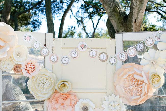 paper flower dessert backdrop