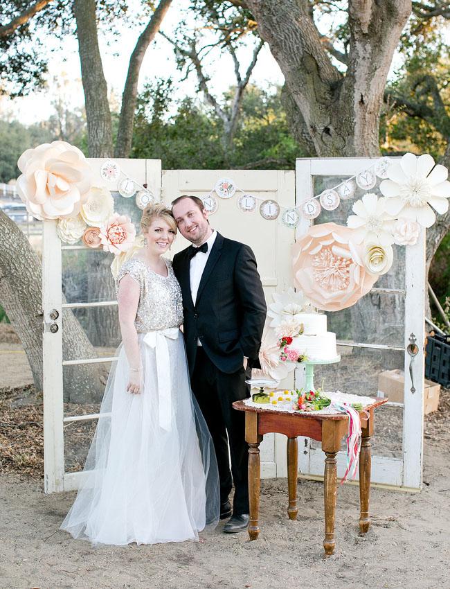 Thrift Store Wedding Dresses 72 Fresh paper flower dessert backdrop
