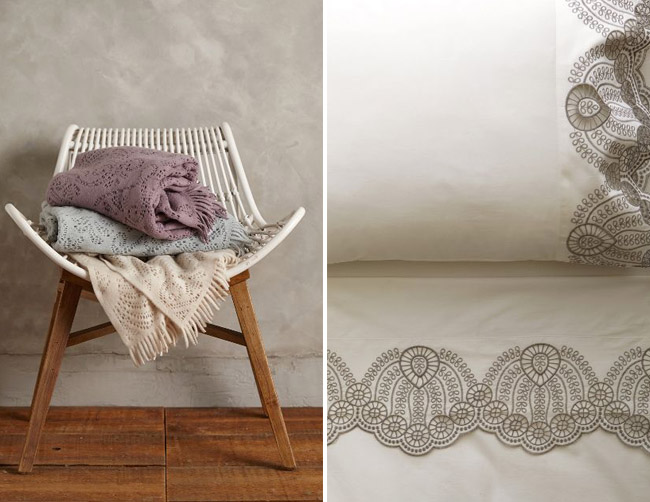 Anthropologie Registry Bedding