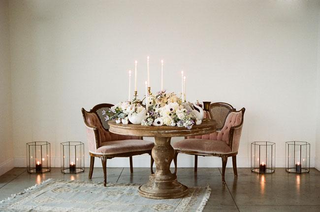 romantic ballet tablescape
