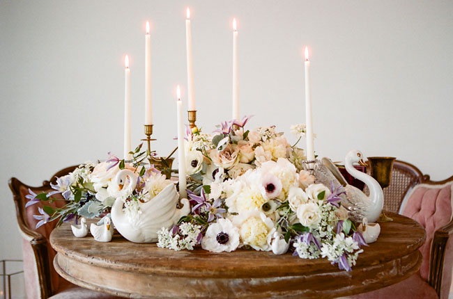 romantic ballet tablescape