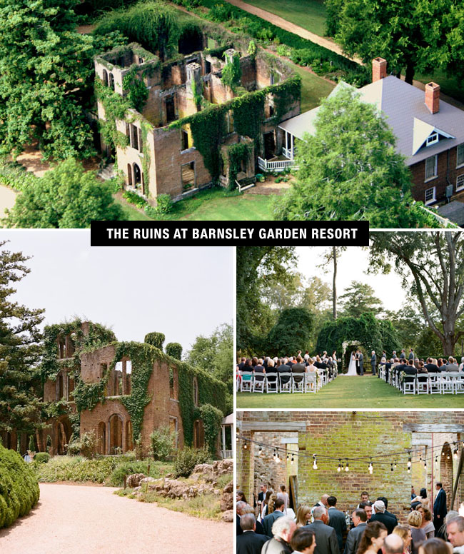 Barnsley Garden Resort wedding venue in Georgia is a place to get married if you love history, nature and an industrial feel